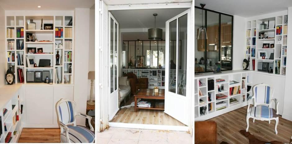 D coration bar dans une cuisine le havre 1236 le for Renovation escalier bois peinture saint denis